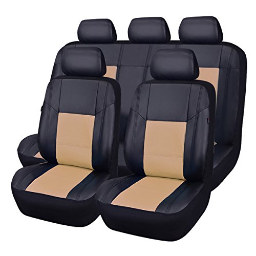 Car Pass Skyline PU Leather Car Seat Protectors