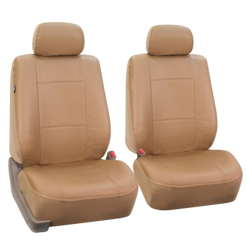 FH Group PU001102 PU Leather Front Car Seat Covers