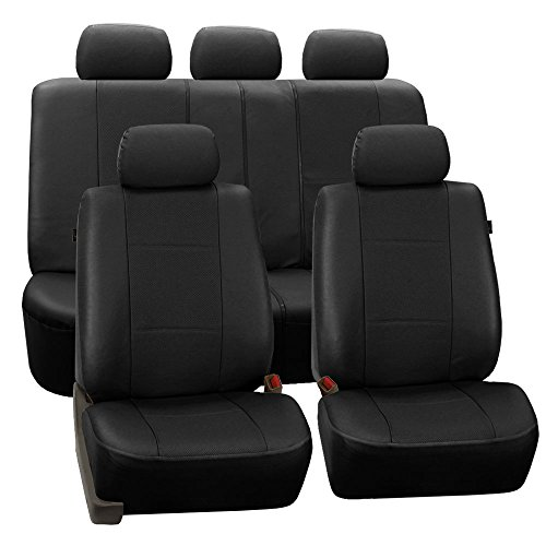 FH Group PU007BLACK115 Universal Car Seat Covers