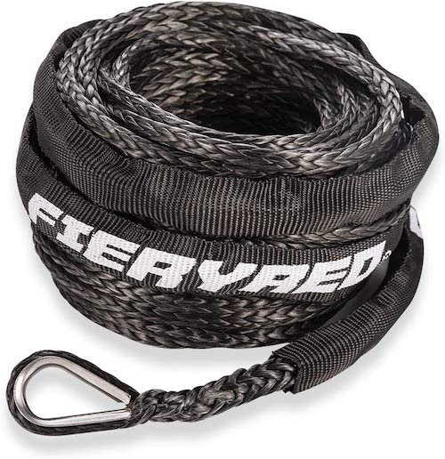 FieryRed Synthetic Winch Rope Protective Motorcycle